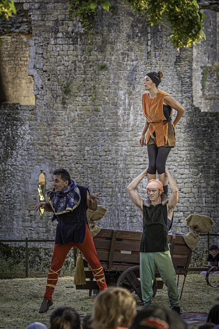 Trois personnages médiévales